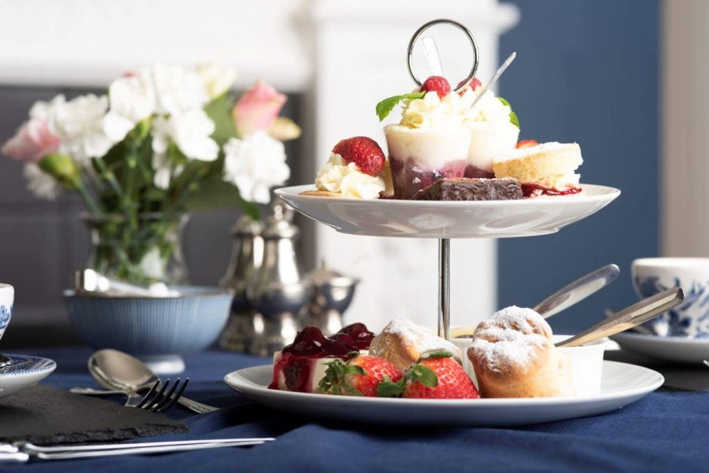 A photo of afternoon tea cakes at The Elm Tree HUndelby